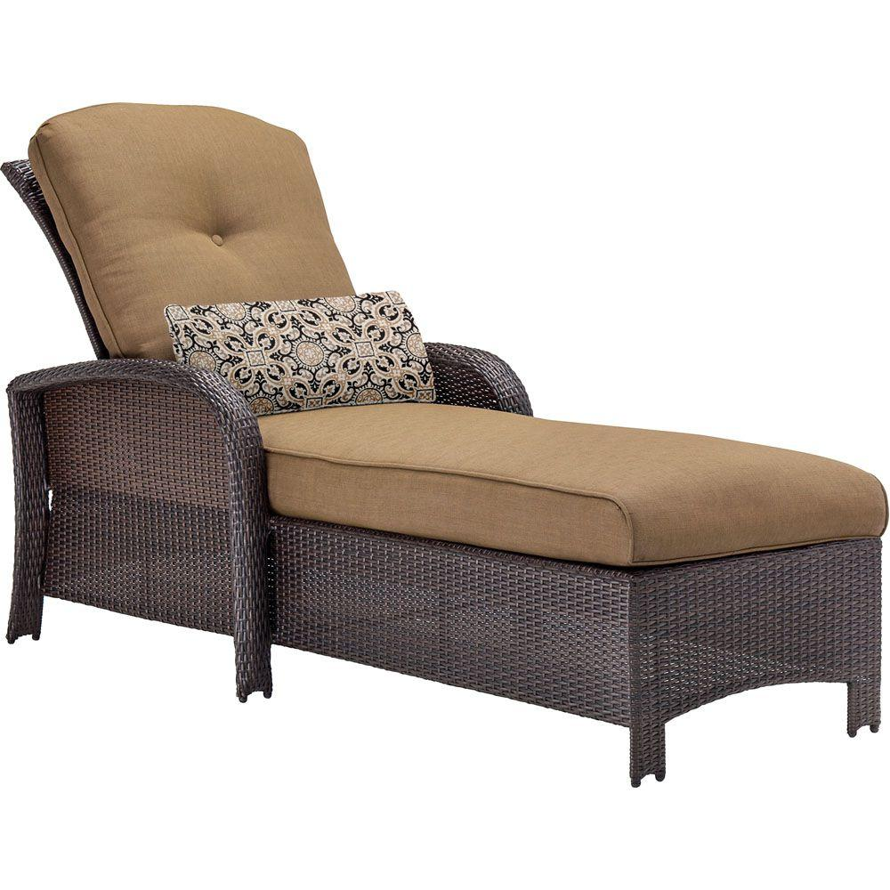 Outdoor chaise lounges patio chairs the home depot for Alyssa outdoor chaise lounge