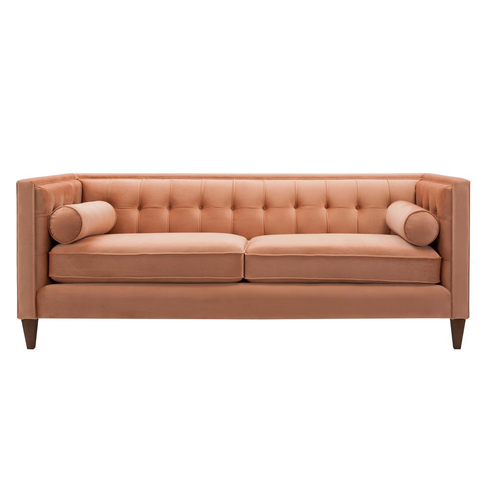 Jennifer Taylor Jack Orange Tuxedo Sofa
