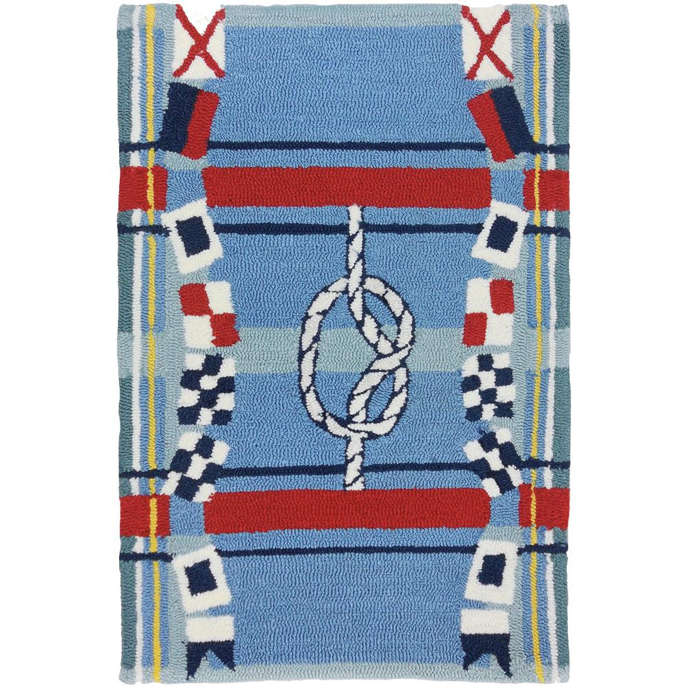 Nautical Plaid Blue 2 Ft X 3 Ft Indoor Outdoor Area Rug Pps