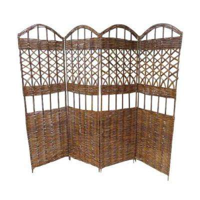 72 in. W x 60 in. H Willow 4-Panel Screen Divider