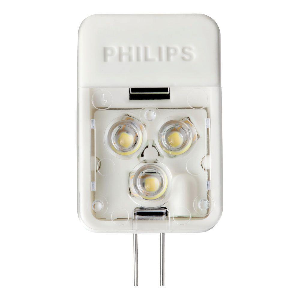 philips 20w equivalent soft white 2700k t3 desk and cabinet g4 base 12volt led light bulb418392 the home depot