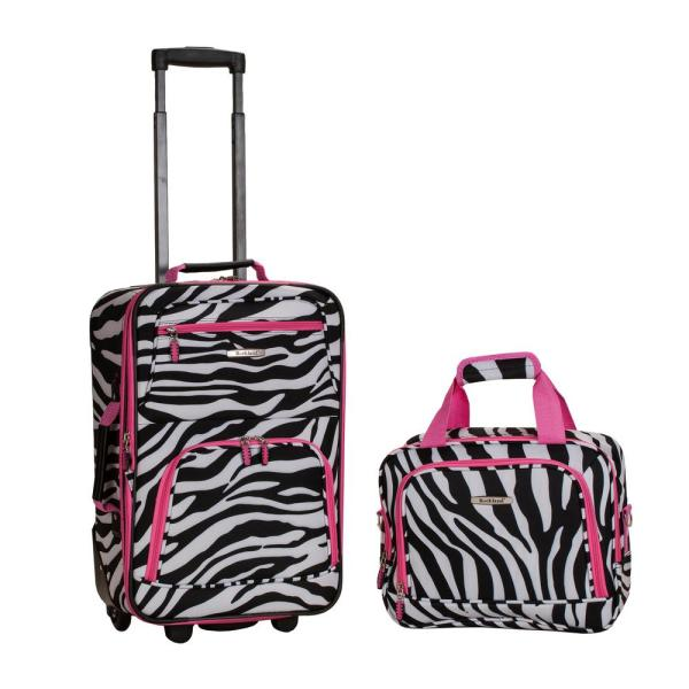 328e81eca Rockland Rockland Rio Expandable 2-Piece Carry On Softside Luggage Set,  Pinkzebra