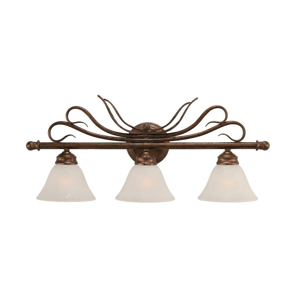 Concord 3-Light Bronze Bath Vanity Light