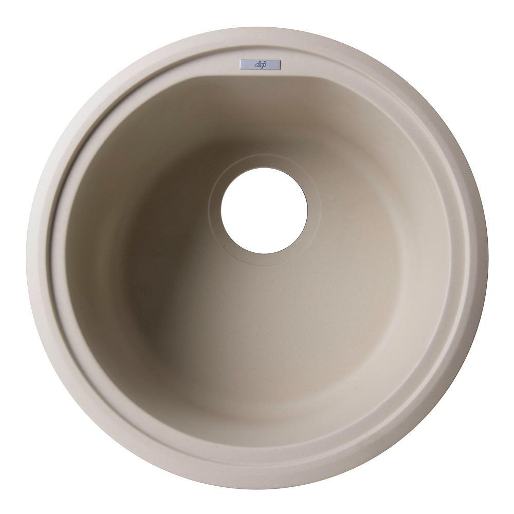ALFI BRAND Undermount Granite Composite 17 in. Single Bowl Kitchen Sink in Biscuit