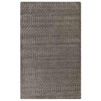 Technique Dark Taupe Solid 8 ft. x 10 ft. Area Rug