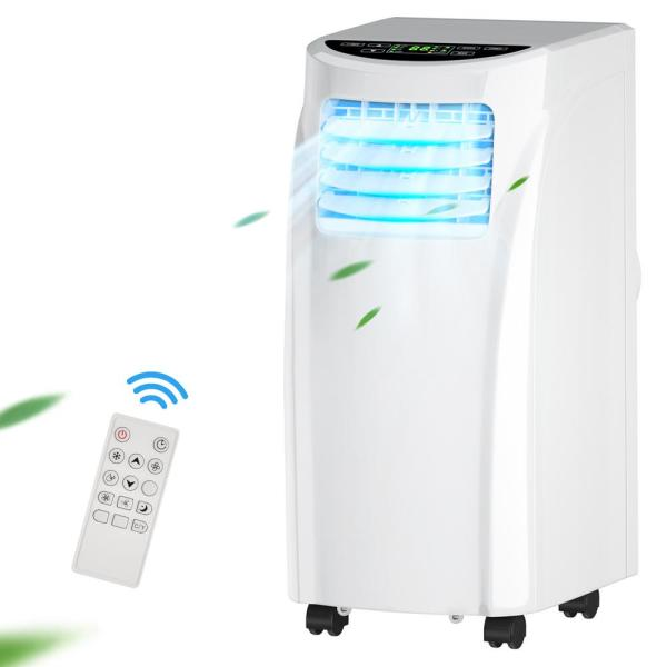 8,000 BTU Portable Air Conditioner with Dehumidifier in White