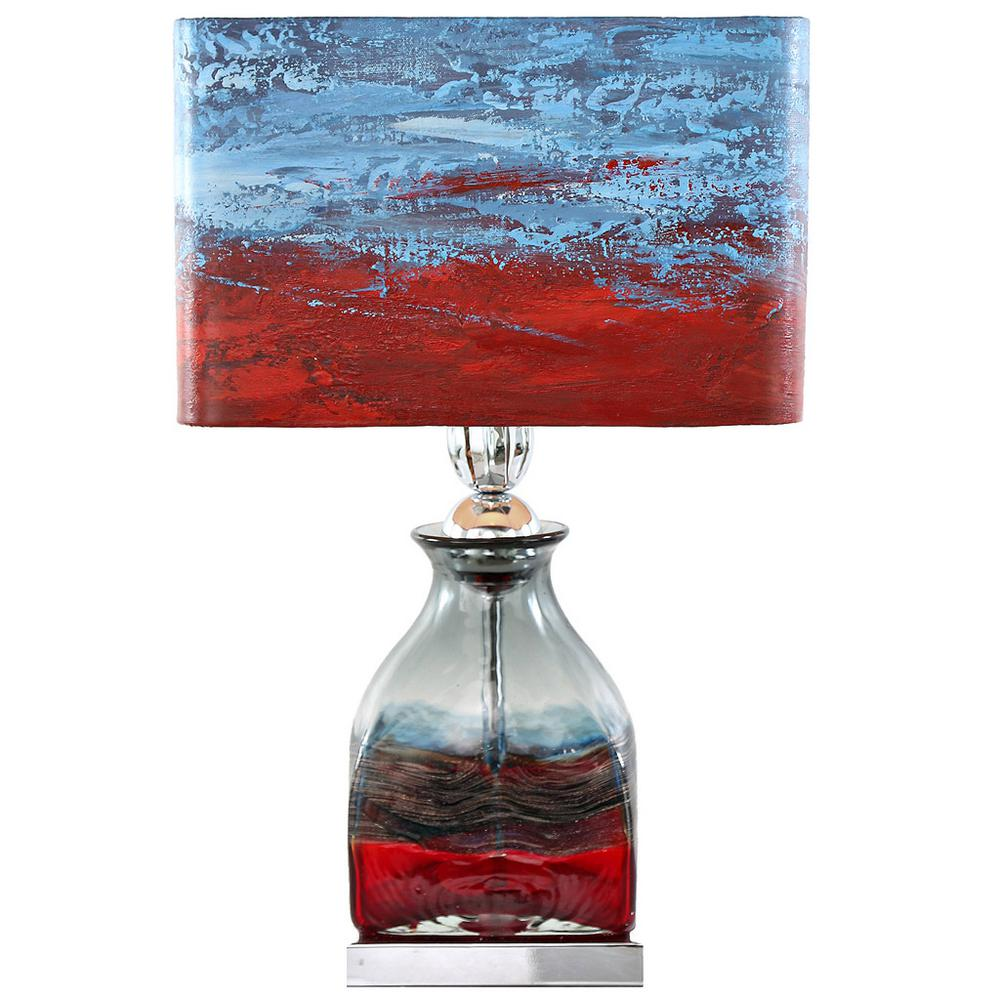 River of goods 2075 in multi colored indoor table lamp with hand multi colored indoor table lamp with hand painted san geotapseo Gallery