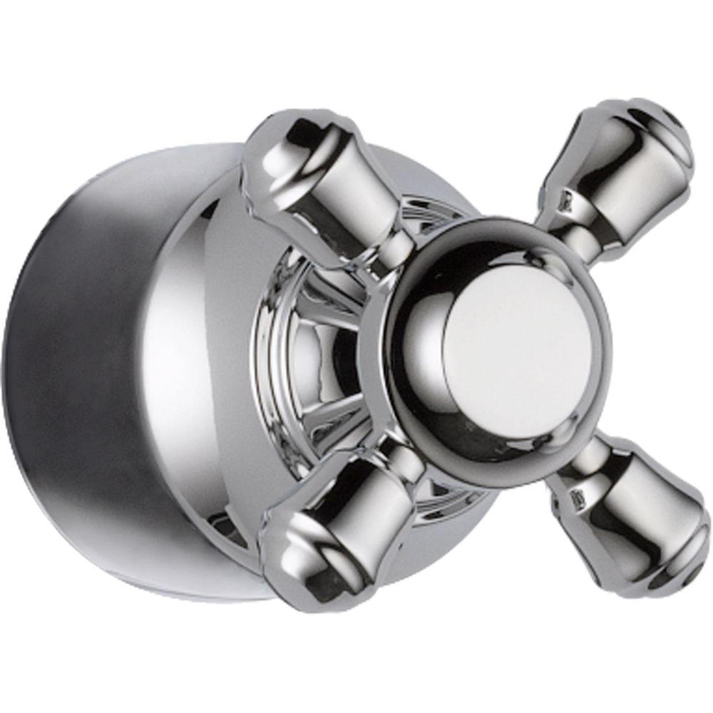 Cassidy Hand Shower/Diverter Valve Metal Cross Handle in Chrome