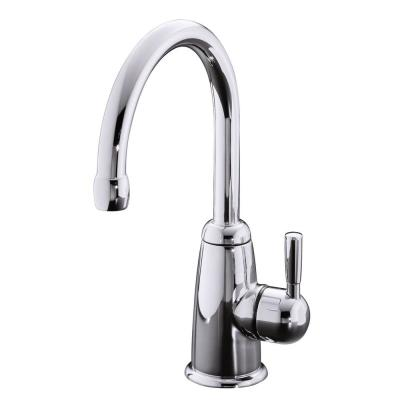 Wellspring Single Handle Bar Faucet with Contemporary Design in Polished Chrome