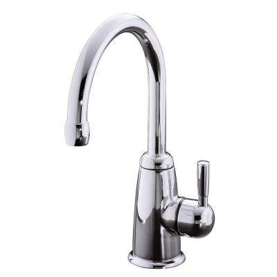 Wellspring Single Handle Beverage Faucet with Contemporary Design in Polished Chrome