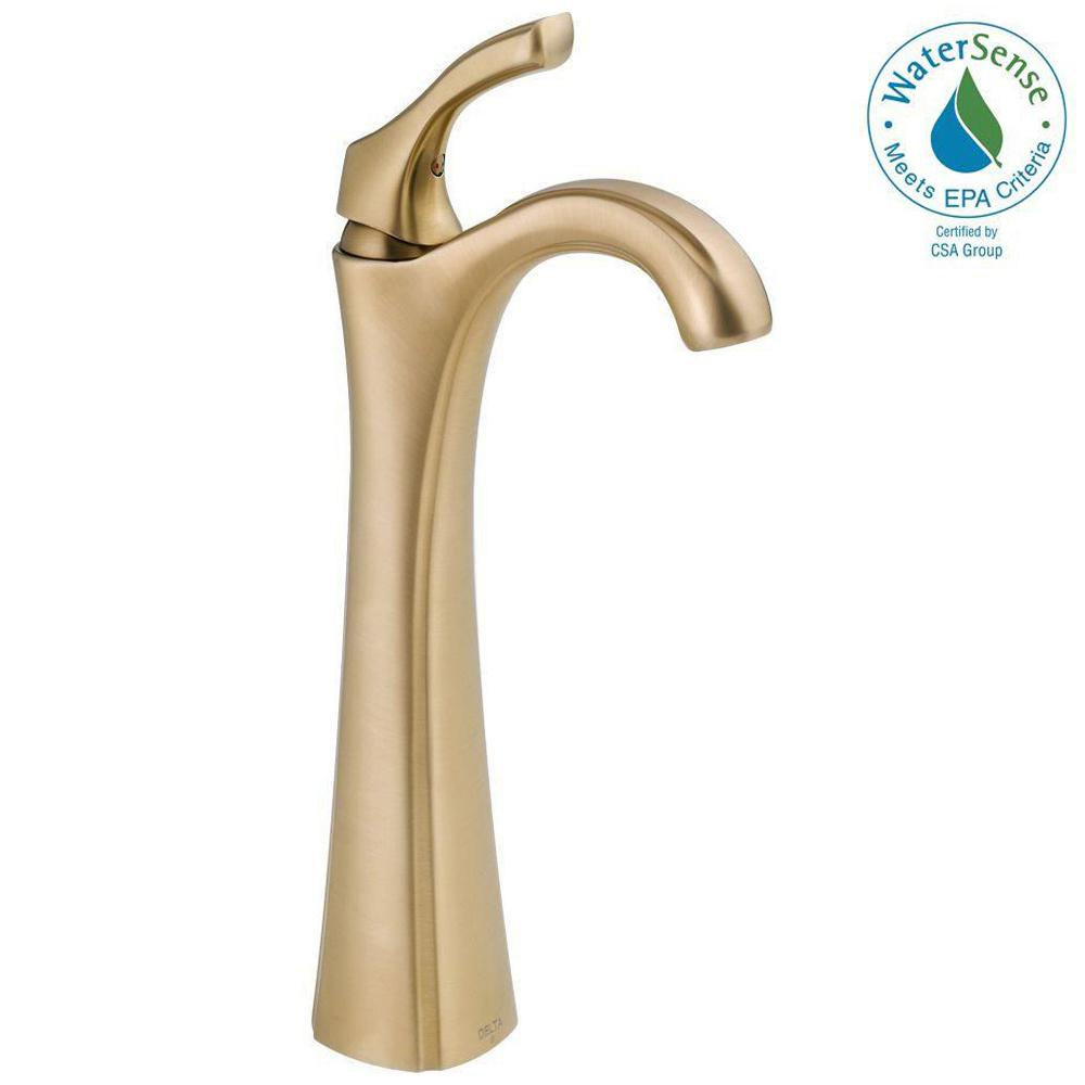 Addison Single Hole Single-Handle Vessel Bathroom Faucet in Champagne Bronze