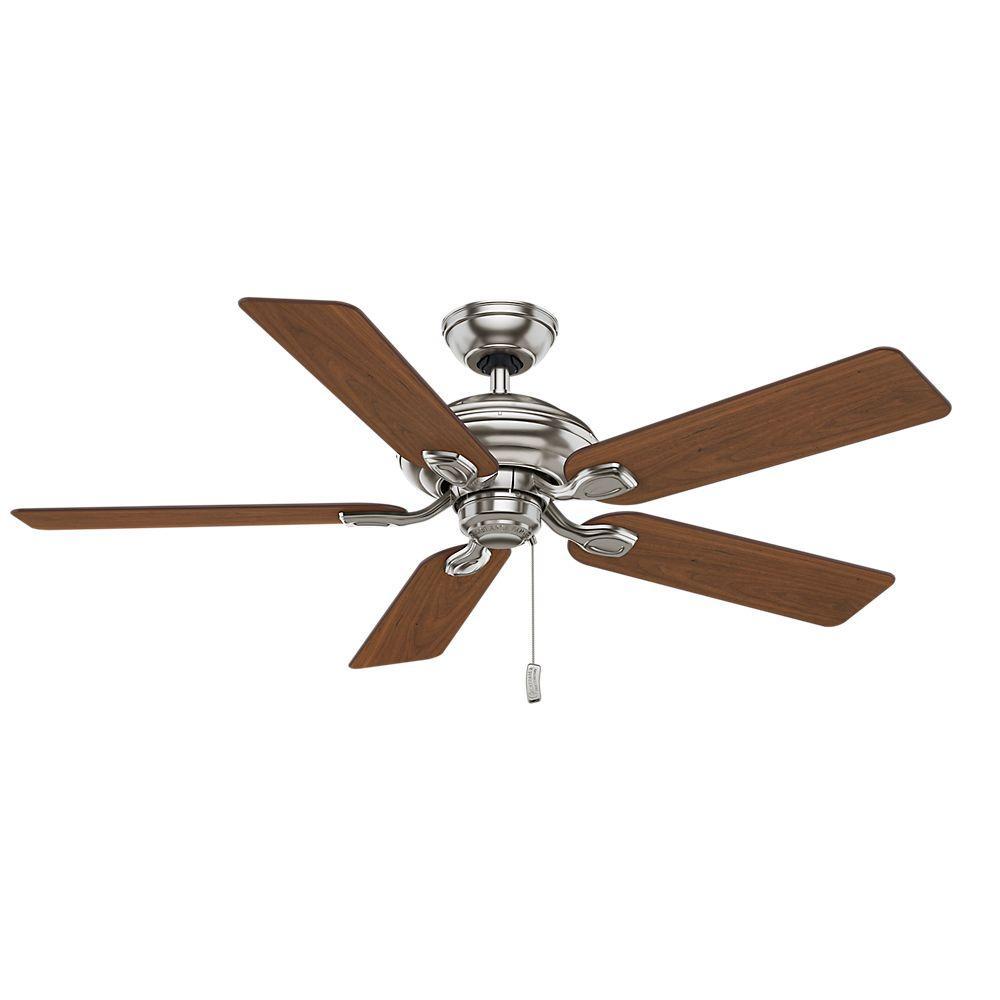 Casablanca Utopian 52 in. Indoor Brushed Nickel Ceiling Fan