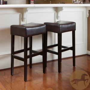 Surprising Noble House Lopez 30 In Brown Backless Bar Stool Set Of 2 Cjindustries Chair Design For Home Cjindustriesco
