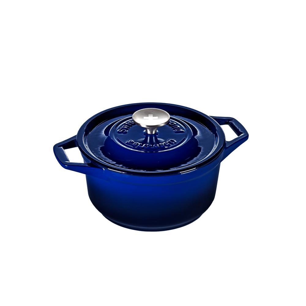 2.65 Qt. Saphir Bleu Round Casserole