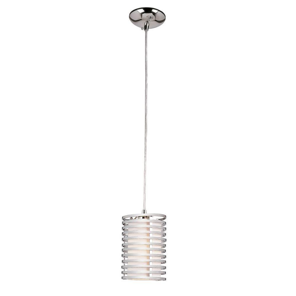 Stewart 1-Light Polished Chrome Incandescent Ceiling Pendant