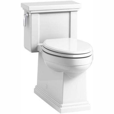 Tresham 1-Piece 1.28 GPF Single Flush Elongated Toilet with AquaPiston Flush Technology in White, Seat Included