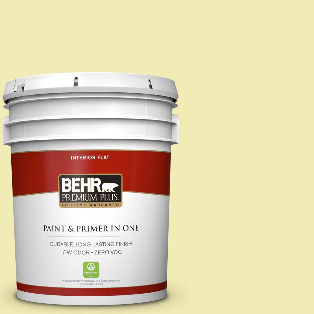 BEHR Premium Plus 5 gal. #P340-2 Invigorating Flat Zero VOC Interior Paint and Primer in One