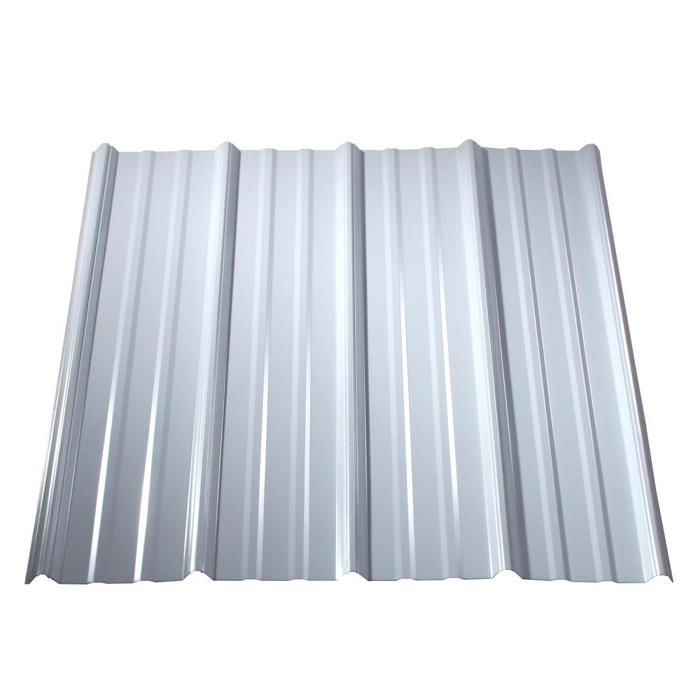 Metal Sales 10 Ft Classic Rib Steel Roof Panel In Bright