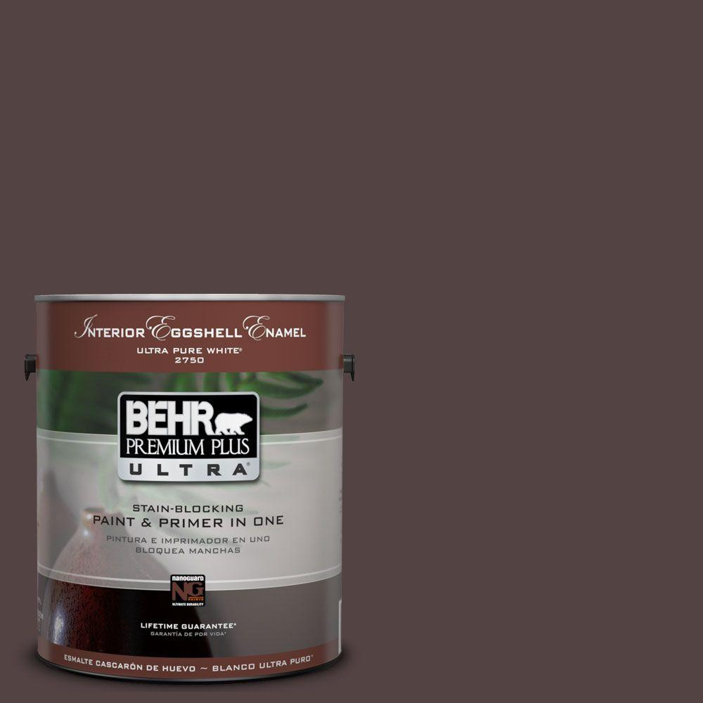 BEHR Premium Plus Ultra 1-Gal. #UL100-1 Folklore Interior Eggshell Enamel Paint-DISCONTINUED