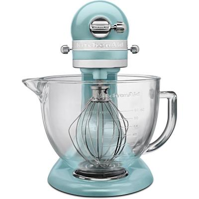 Artisan Designer 5 Qt. 10-Speed Azure Blue Stand Mixer with Glass Bowl