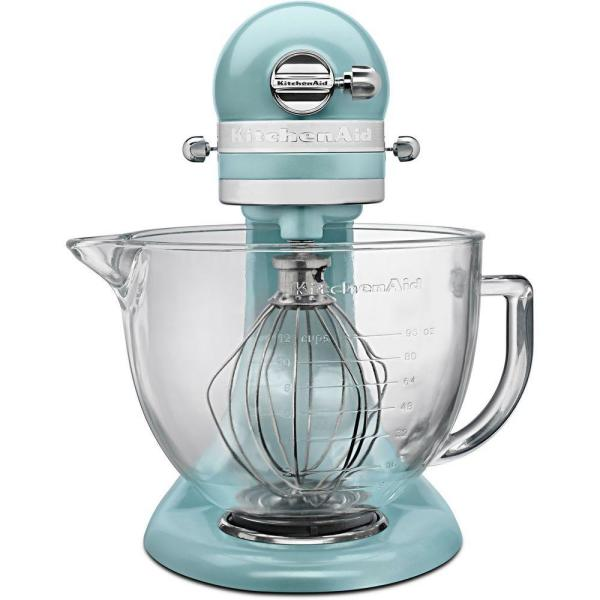 KitchenAid Artisan Designer 5 Qt. 10-Speed Azure Blue Stand Mixer with
