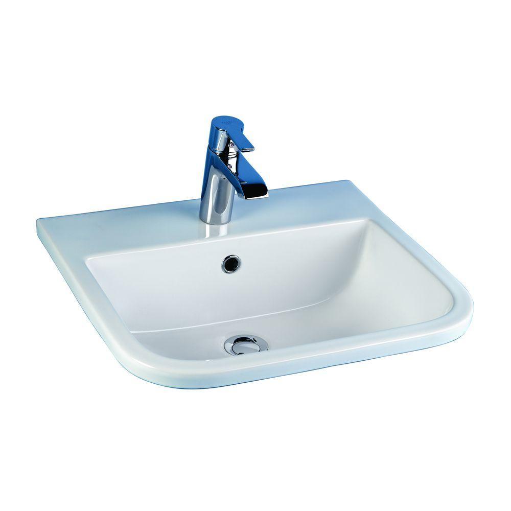 barclay bathroom sinks barclay products series 600 drop in bathroom sink in white 10175