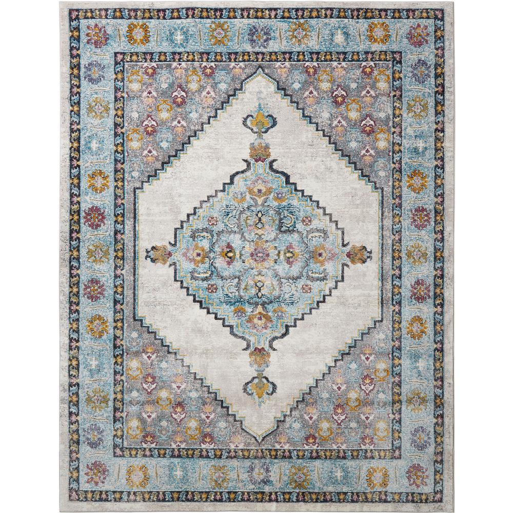 Nicole Miller Parlin Vadoma Ivory Blue 5 Ft 3 In X 6 9 Indoor Area Rug