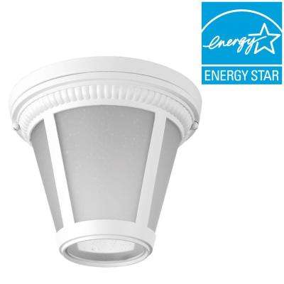 Westport Collection 1-Light White LED Outdoor Flushmount