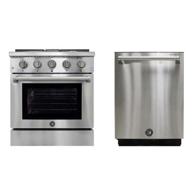 Brama Range and Dishwasher Package in Stainless Steel (2-Piece)