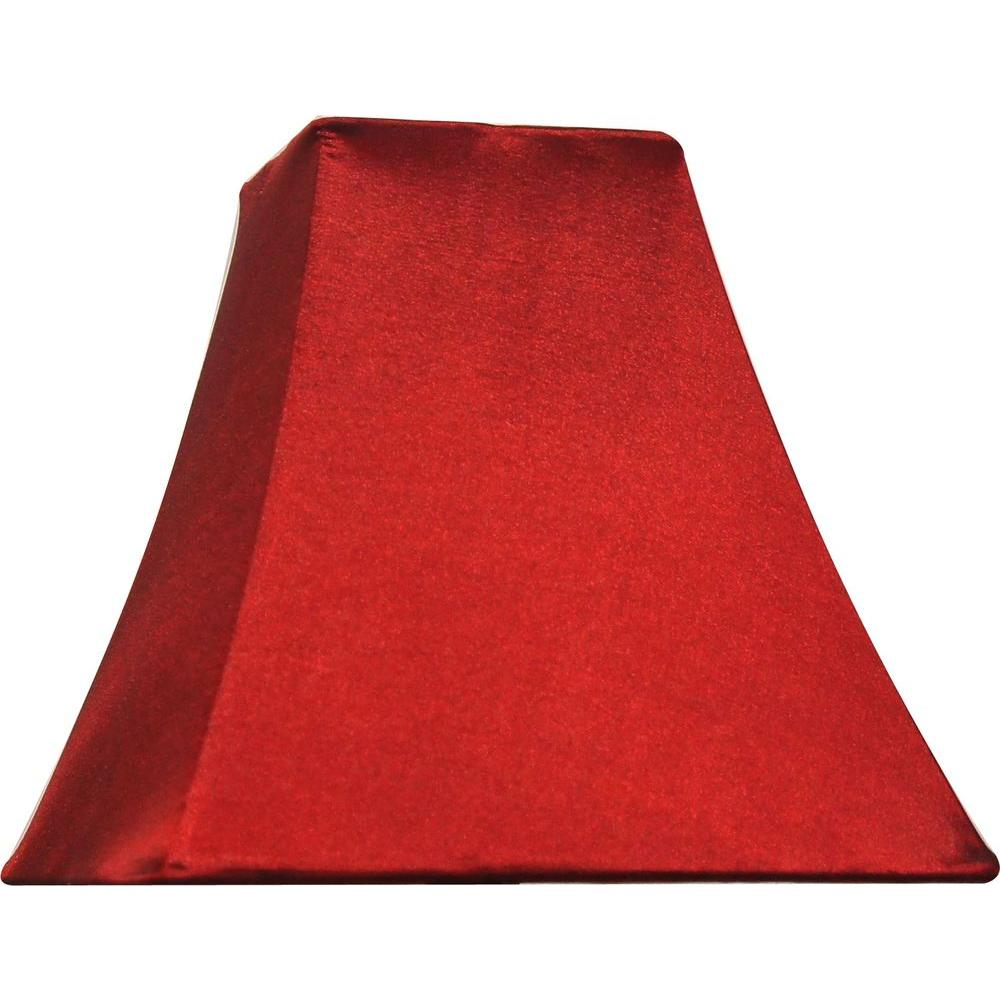 Red lamp shades lamps the home depot mix match burgundy square bell accent shade aloadofball Choice Image