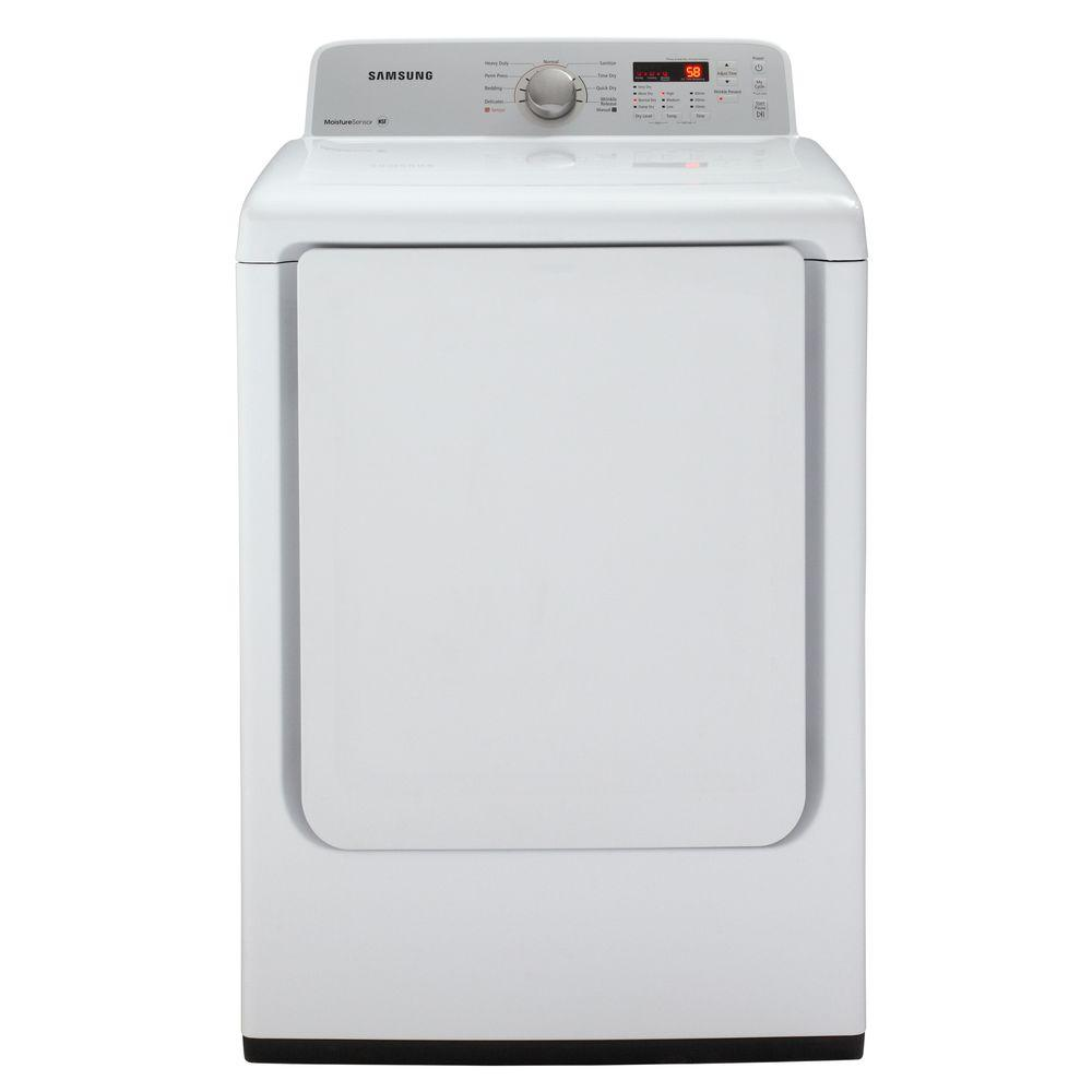Samsung 7.2 cu. ft. Gas Dryer in White