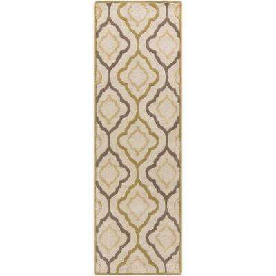 Dalian Ivory 3 ft. x 8 ft. Indoor Runner Rug