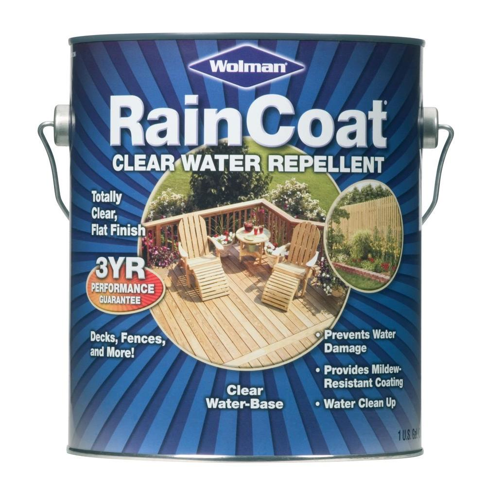 Wolman 1 Gal F And P Natural Exterior Wood Stain Finish: Wolman 1 Gal. Raincoat Clear Water Repellent Sealer (Case