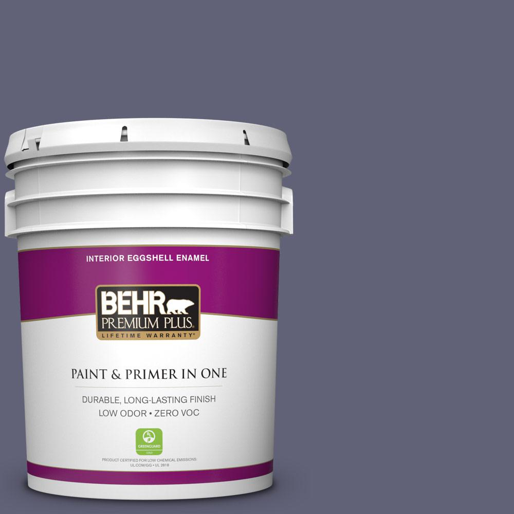 5 gal. #620F-6 Purple Orchid Zero VOC Eggshell Enamel Interior Paint
