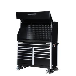International SHD Series 54 inch 12-Drawer Tool Chest and Cabinet Combo in Black by International