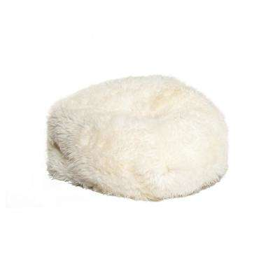 Icelandic White 31 in. x 31 in. Short-Hair Sheepskin Bean Bag