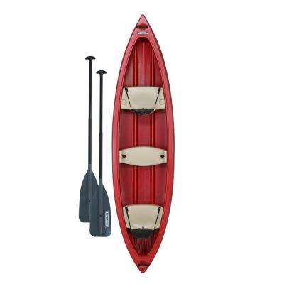 Lifetime Kodiak Canoe 13 ft. in Red with 2 paddles
