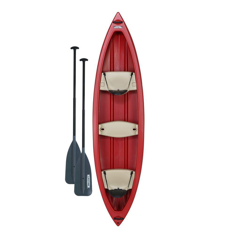 Lifetime Kodiak Canoe 13 ft. in Red with 2 paddles