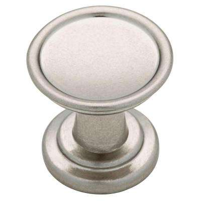 Ring 1-1/16 in. (27mm) Bedford Nickel Round Cabinet Knob