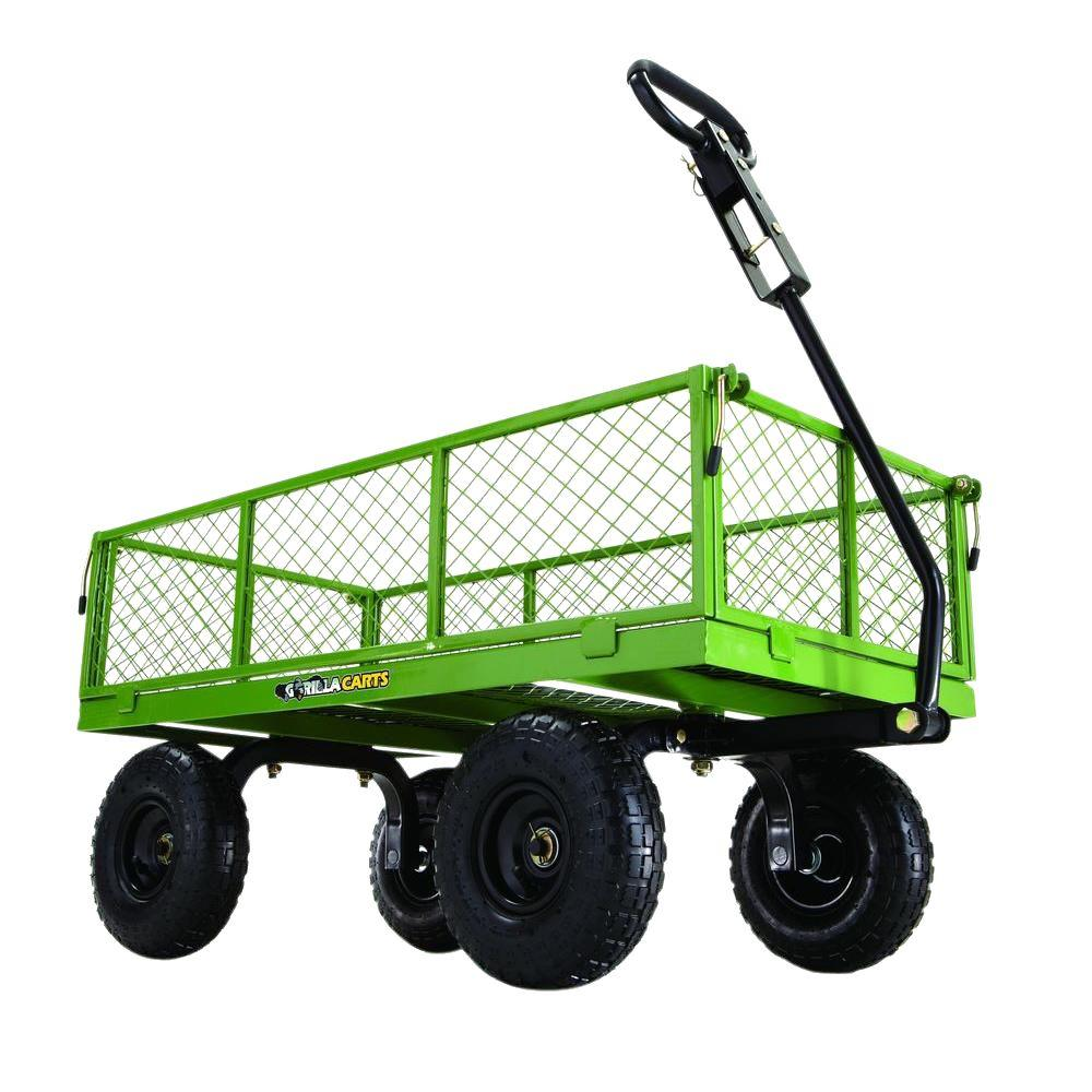 Gorilla Carts 800 lb. Steel Utility Cart-GOR801 - The Home Depot