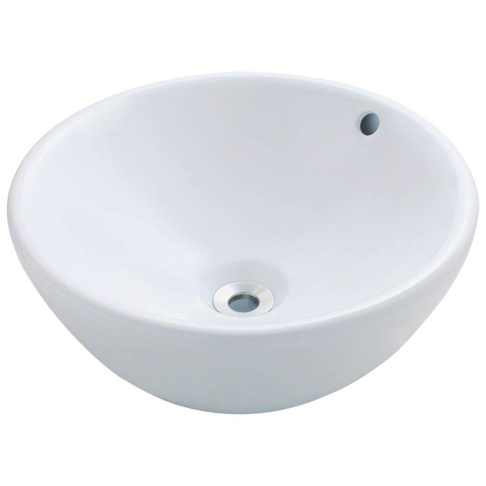 Polaris Sinks Porcelain Vessel Sink In White P0022v W The Home Depot