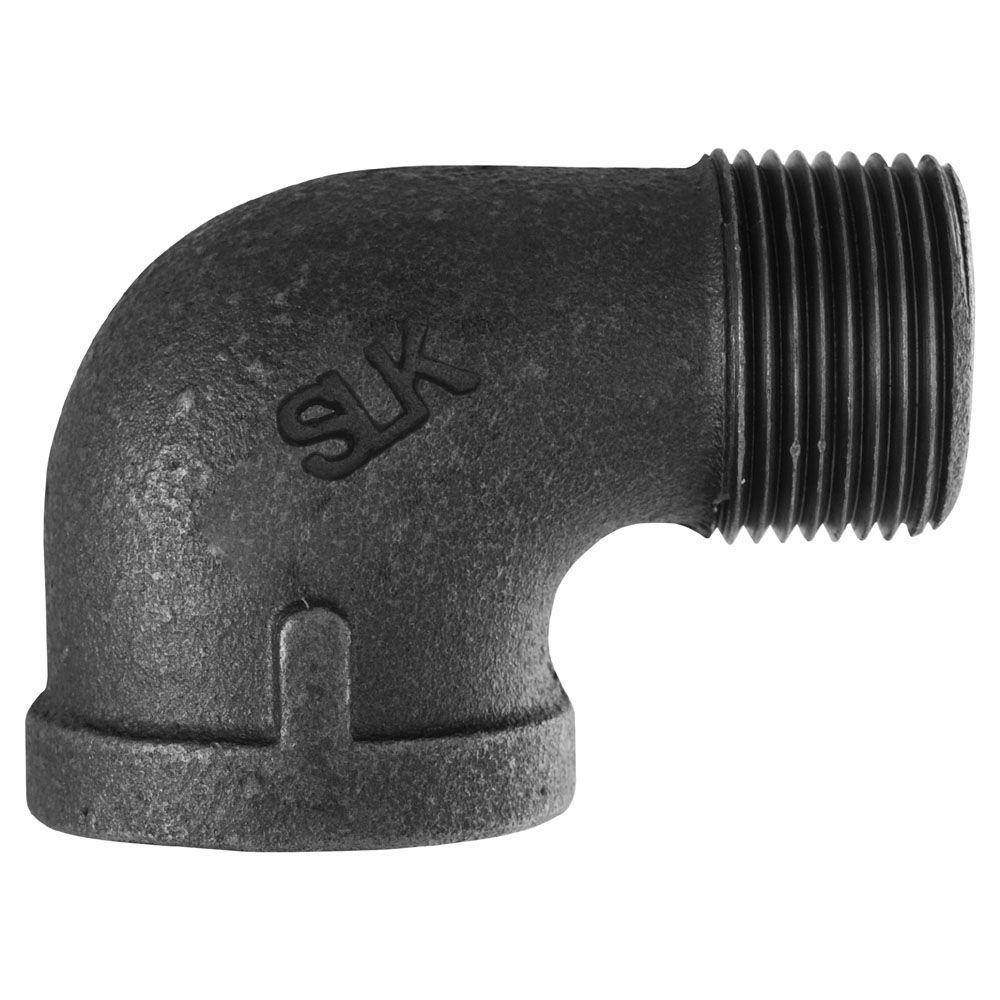 2 in. Black Iron 90-Degree Street Elbow