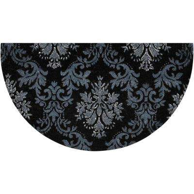 Glitter Damask Black/Silver 2 ft. x 3 ft. Area Rug