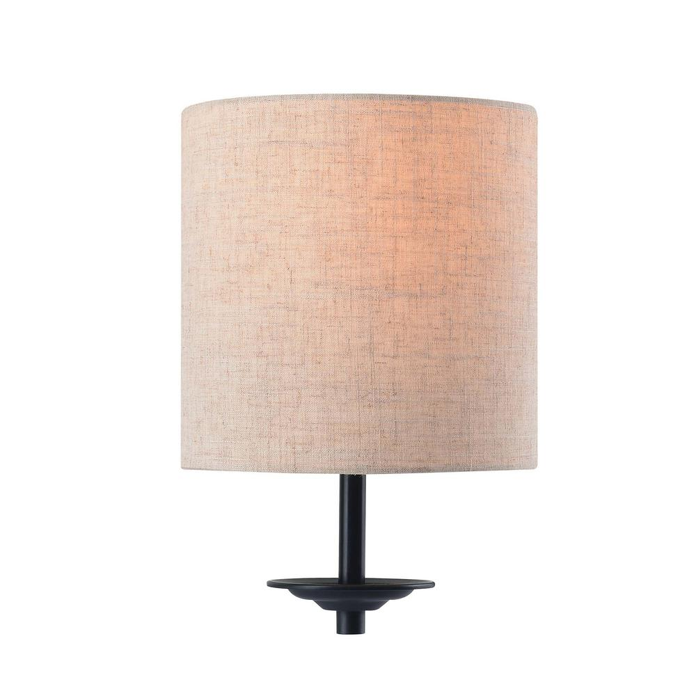 online store 7b726 bdd1b Kenroy Home Chevet 1-Light 11.25 in. Bronze Wallchiere Lamp