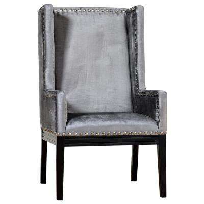 Tribeca Grey Velvet Chair
