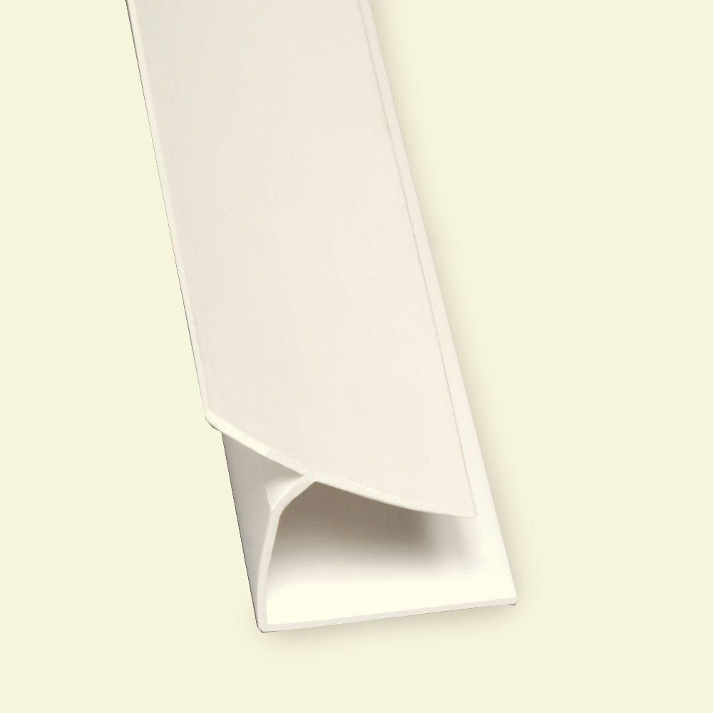 Glasliner 8 ft. x 3/4 in. x 1/2 in. PVC FRP Inside Corner Moulding