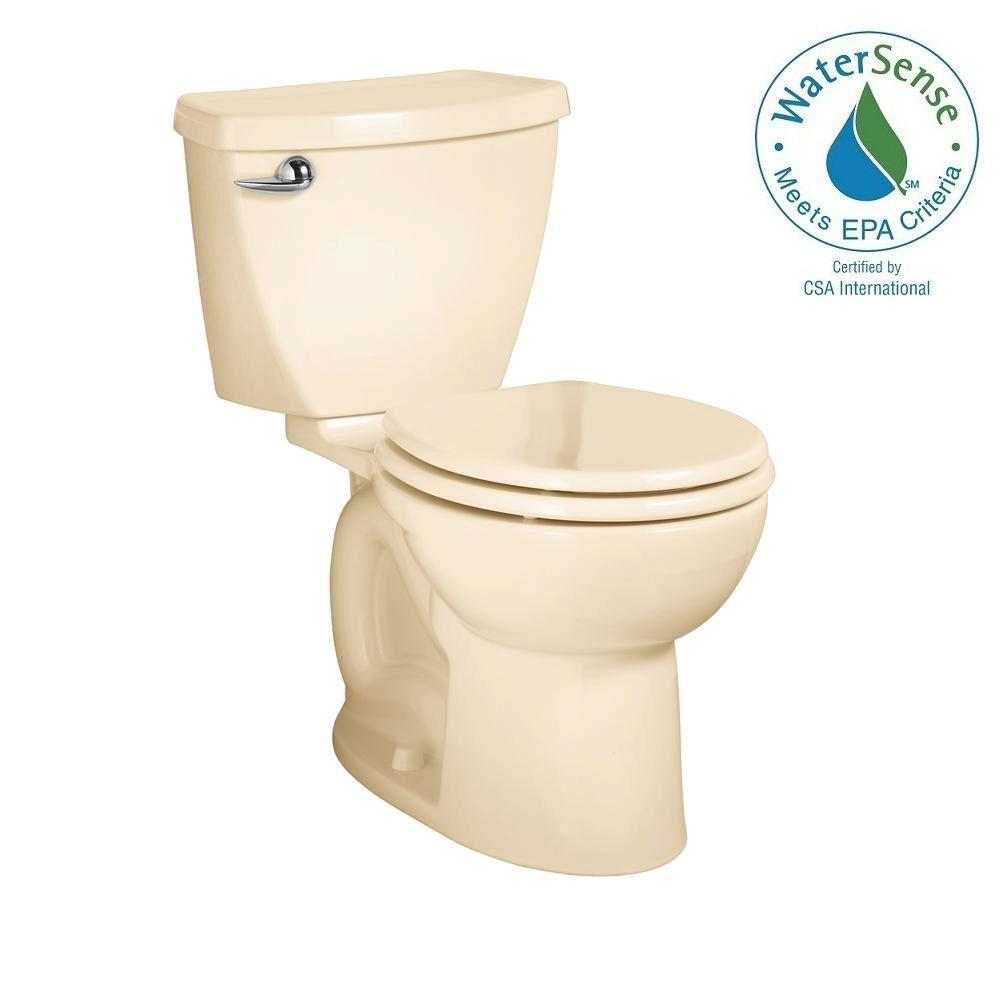 American Standard Cadet 3 FloWise 2-piece 1.28 GPF High Efficiency Round Front Toilet in Bone