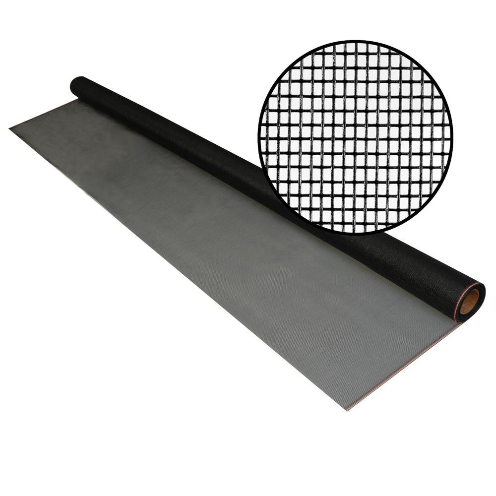 72 in. x 25 ft. Charcoal Fiberglass Screen 18 x 14