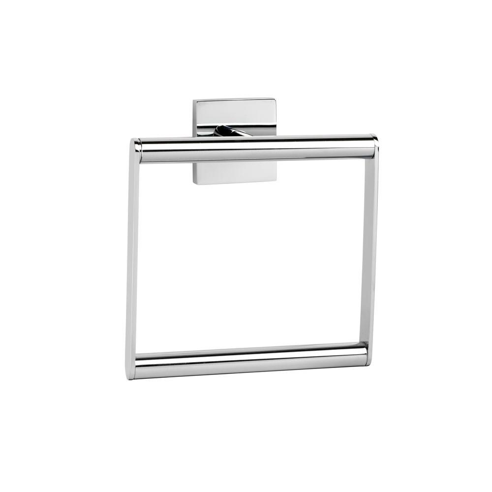 Croydex Flexi-Fix Chester Towel Ring in Chrome