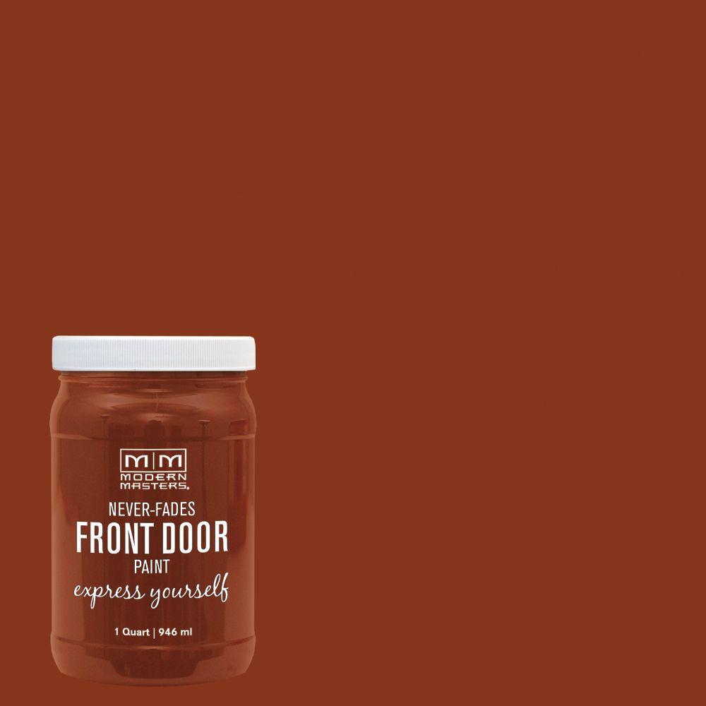 Express Yourself 1 qt. Satin Comfortable Orange Water-Based Front Door Paint